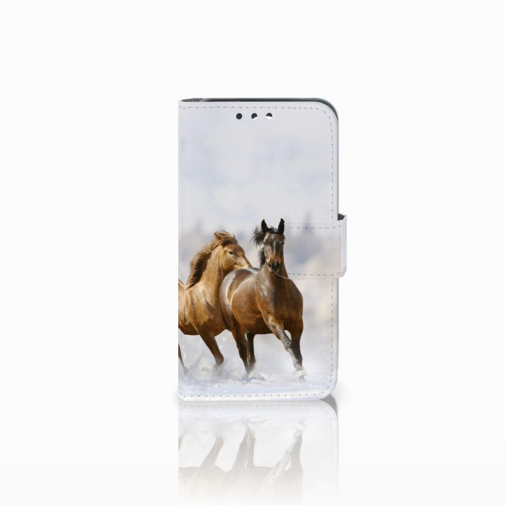 Huawei Y5 Y560 Uniek Boekhoesje Paarden