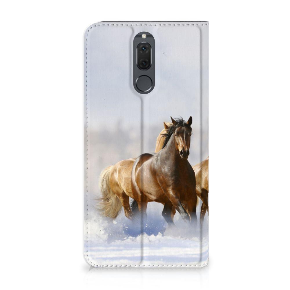 Huawei Mate 10 Lite Uniek Standcase Hoesje Paarden