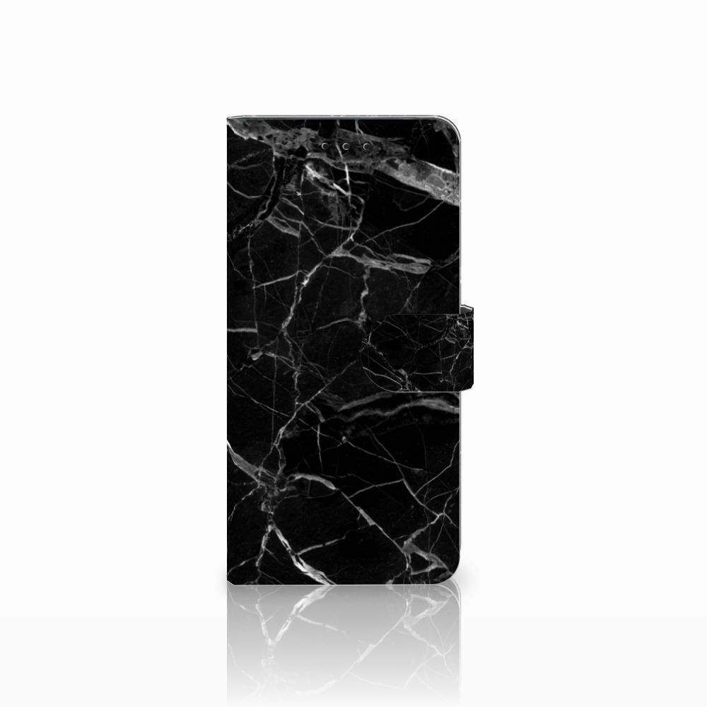 Motorola Moto E5 Plus Uniek Boekhoesje Marmer Zwart