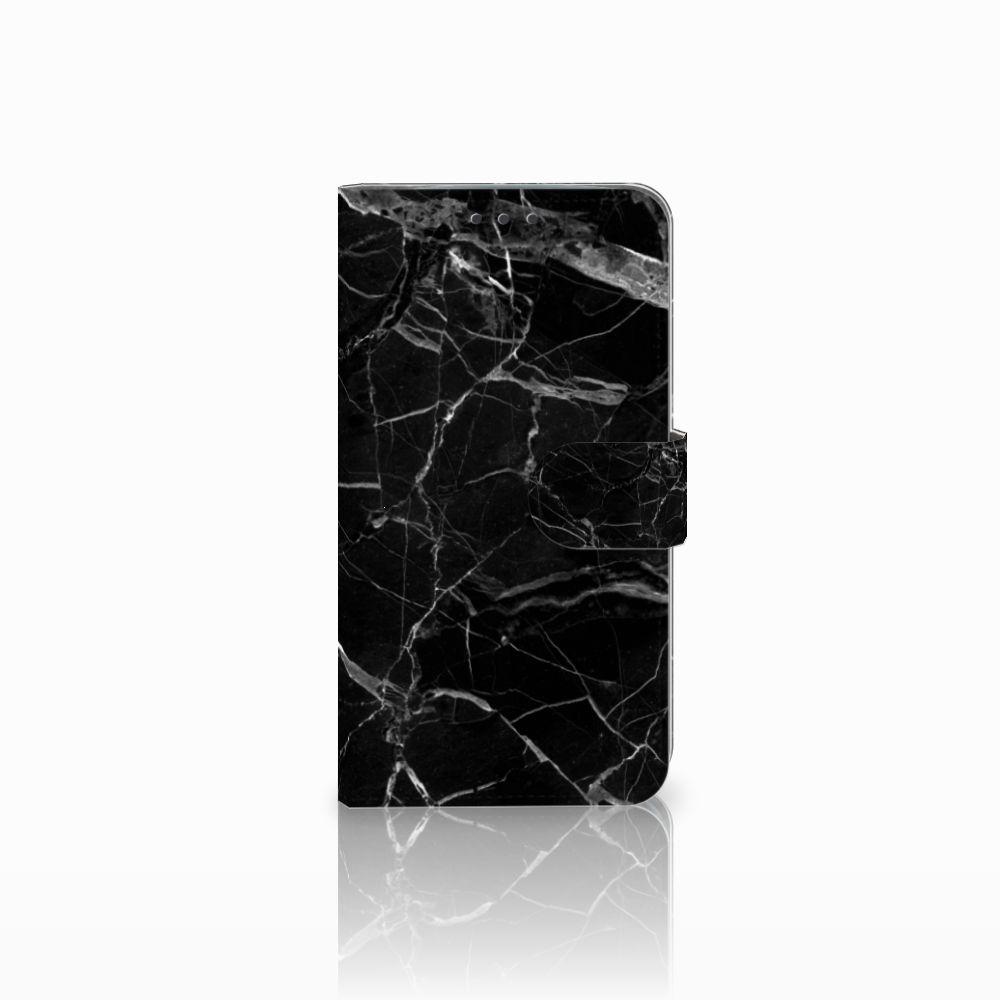 Motorola Moto E4 Plus Uniek Boekhoesje Marmer Zwart