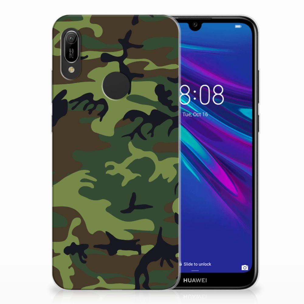Huawei Y6 2019 | Y6 Pro 2019 TPU Hoesje Design Army Dark