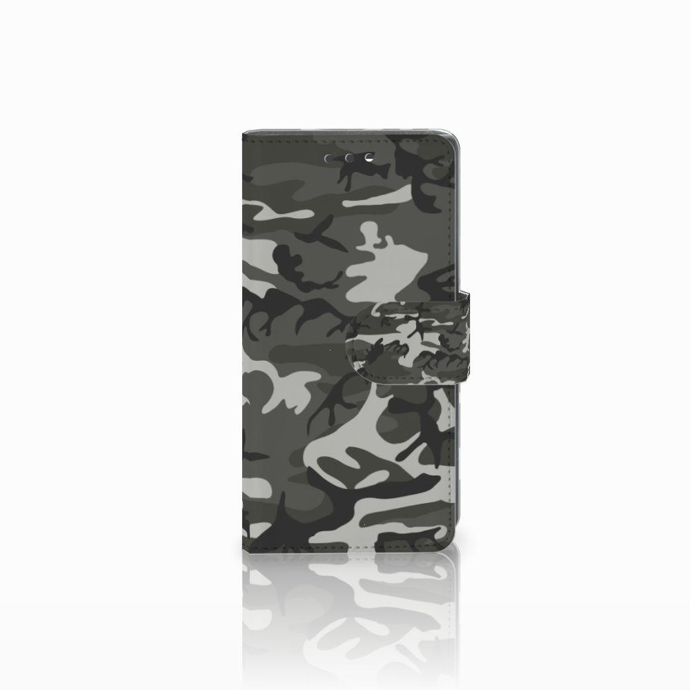 Sony Xperia X Compact Uniek Boekhoesje Army Light