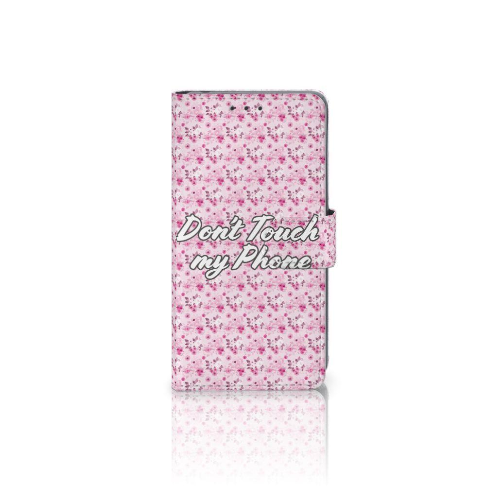 Sony Xperia Z2 Uniek Boekhoesje Flowers Pink DTMP