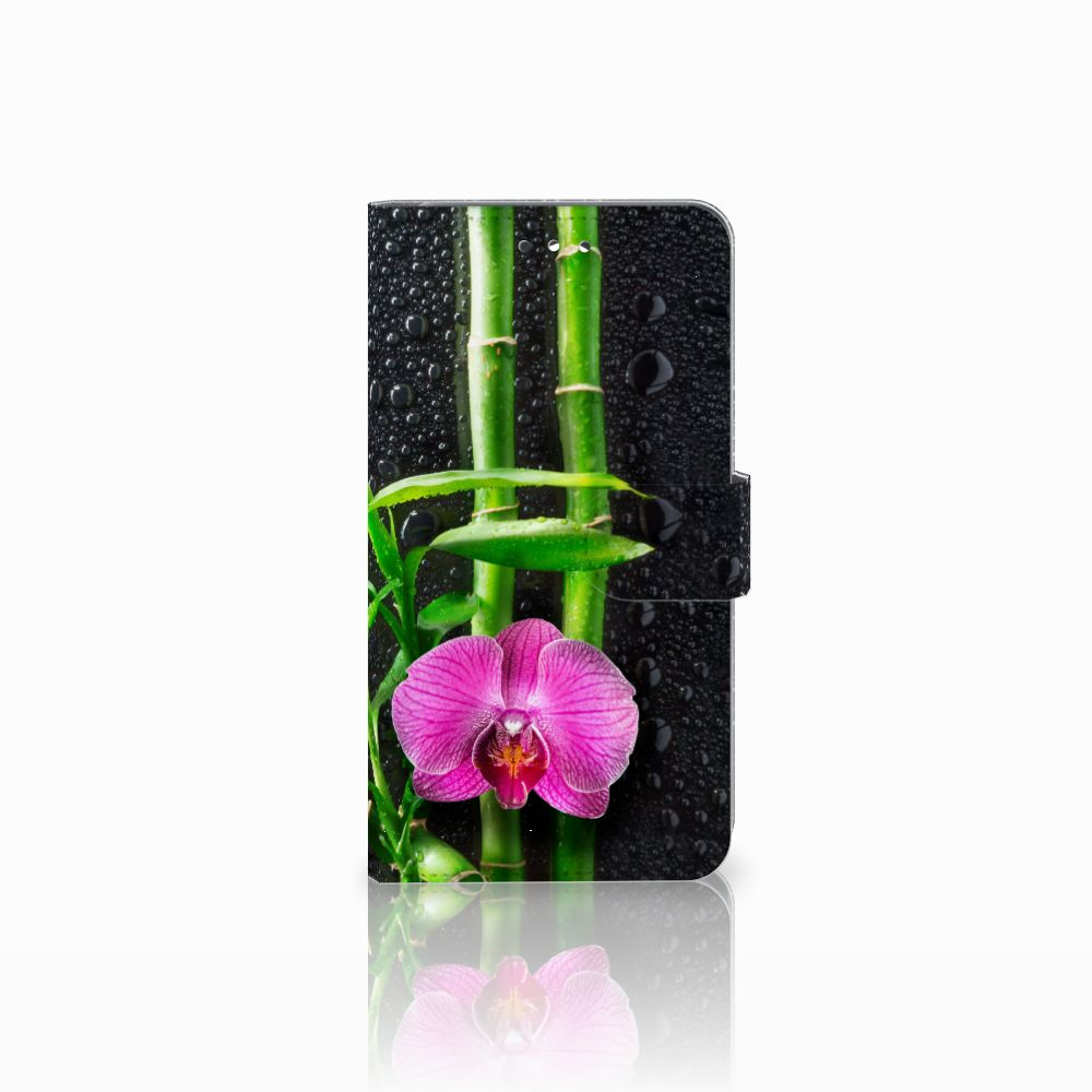Huawei Y7 2017   Y7 Prime 2017 Boekhoesje Design Orchidee