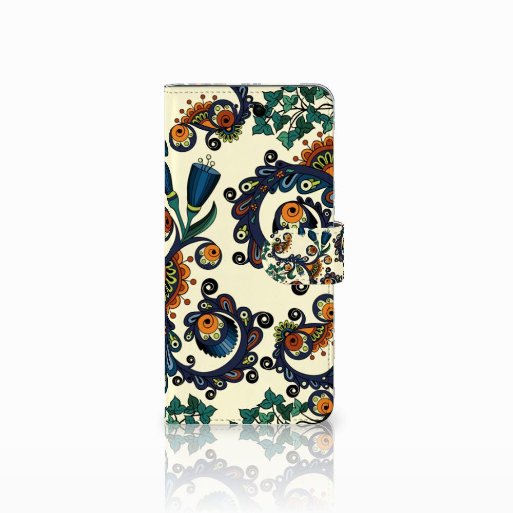 Motorola Moto E5 Plus Boekhoesje Design Barok Flower