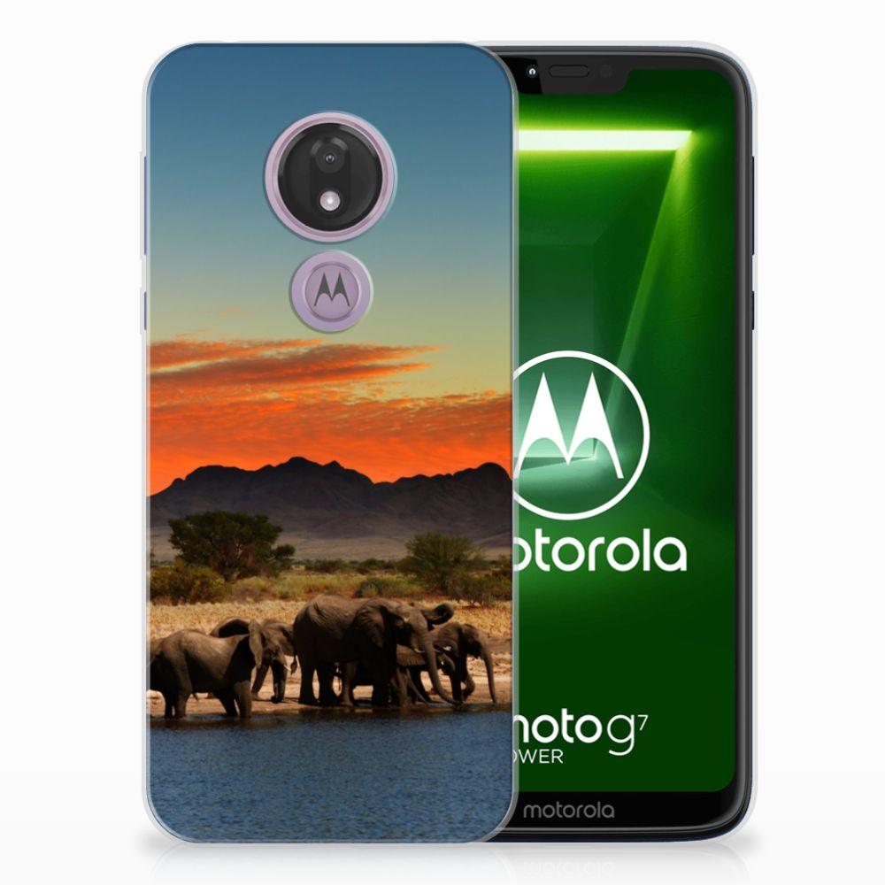 Motorola Moto G7 Power TPU Hoesje Olifanten
