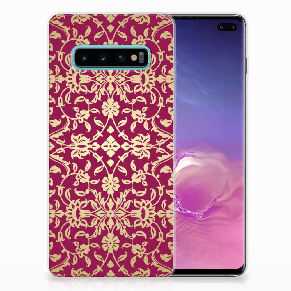 Samsung Galaxy S10 Plus TPU Hoesje Design Barok Pink