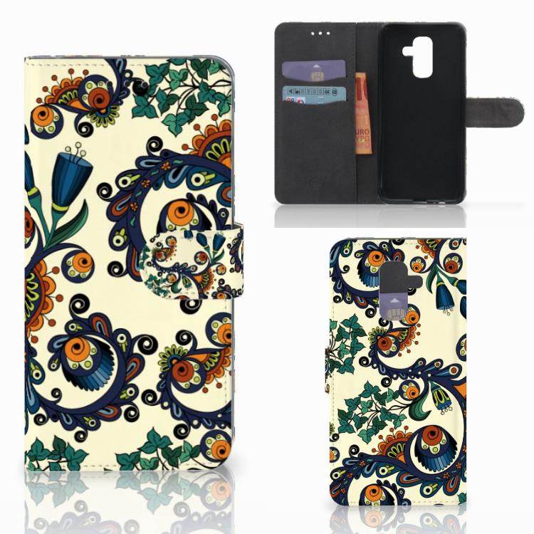 Wallet Case Samsung Galaxy A6 Plus 2018 Barok Flower