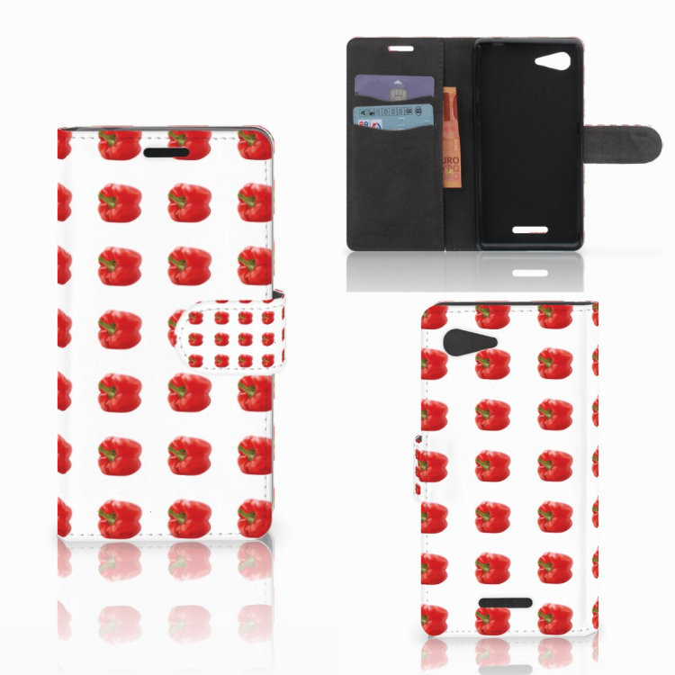 Sony Xperia E3 Book Cover Paprika Red