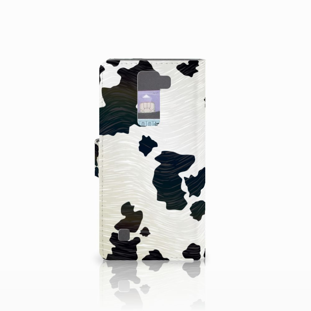 LG K8 Telefoonhoesje met Pasjes Koeienvlekken