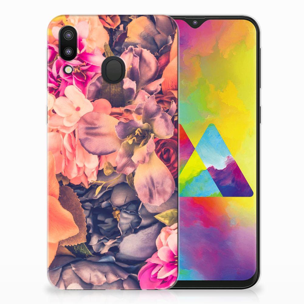 Samsung Galaxy M20 TPU Hoesje Design Bosje Bloemen
