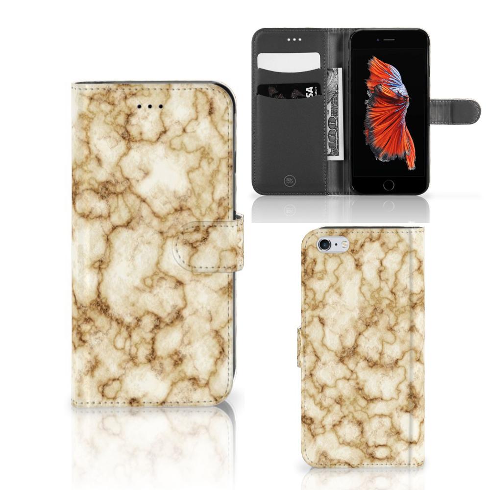 Apple iPhone 6 Plus | 6s Plus Bookcase Marmer Goud
