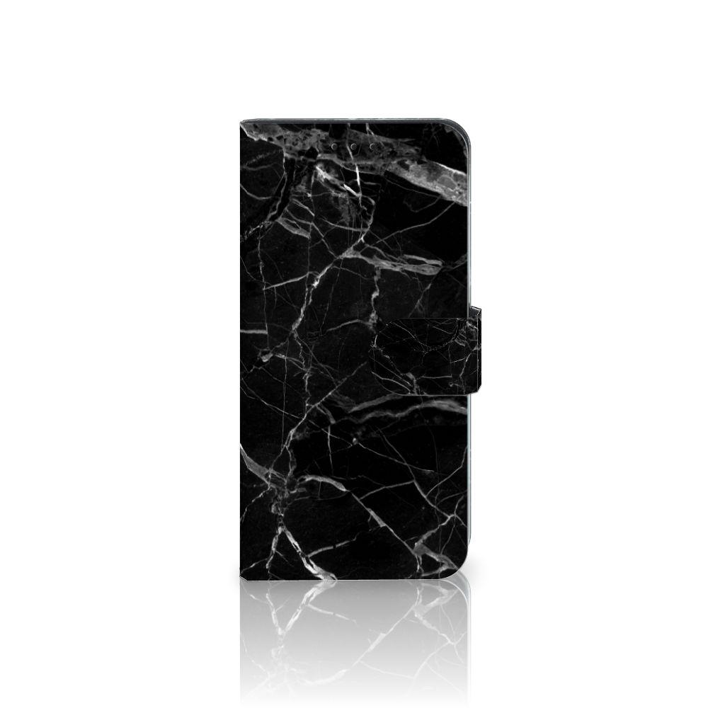 Motorola Moto G5 Plus Uniek Boekhoesje Marmer Zwart