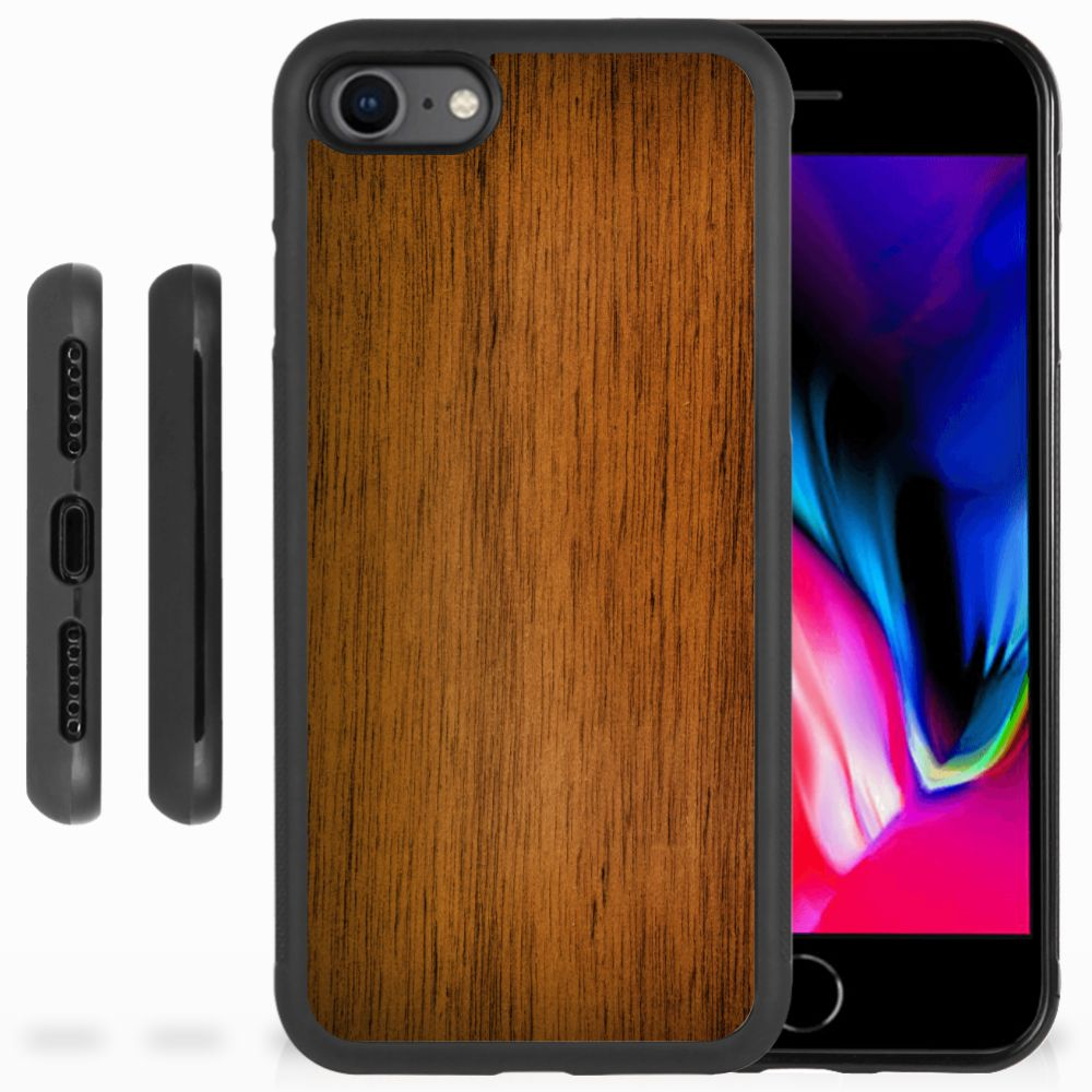 Apple iPhone 7 | 8 Grip Case Donker Hout