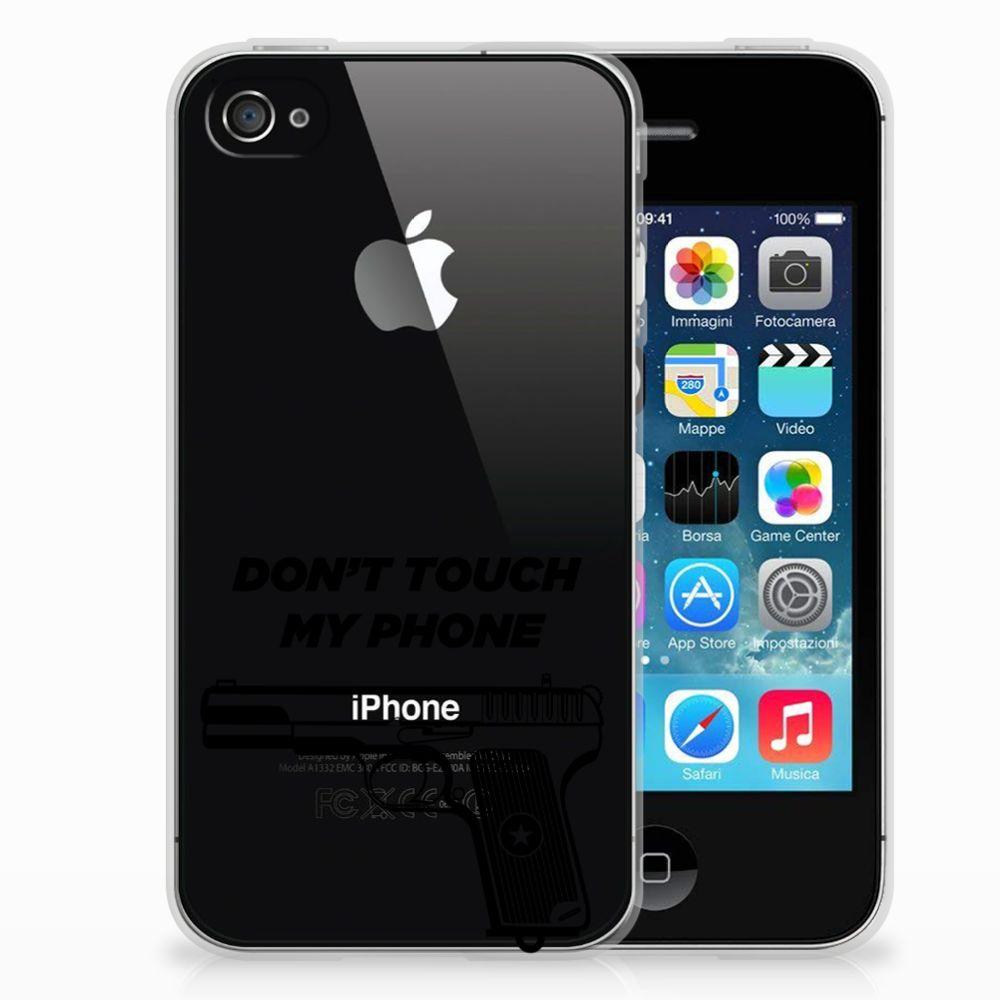 Apple iPhone 4 | 4s Uniek TPU Hoesje Pistol DTMP