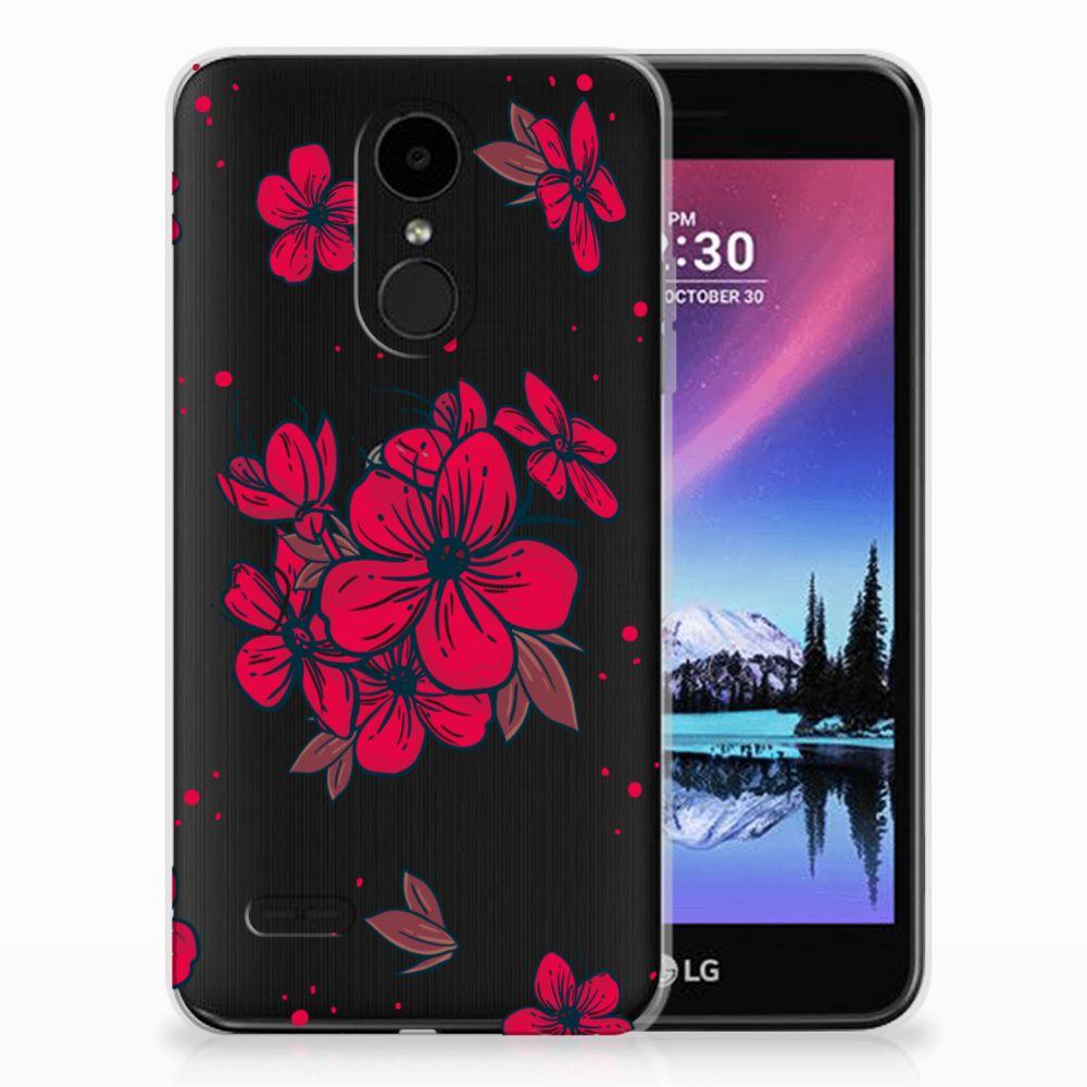 LG K4 (2017) TPU Hoesje Design Blossom Red