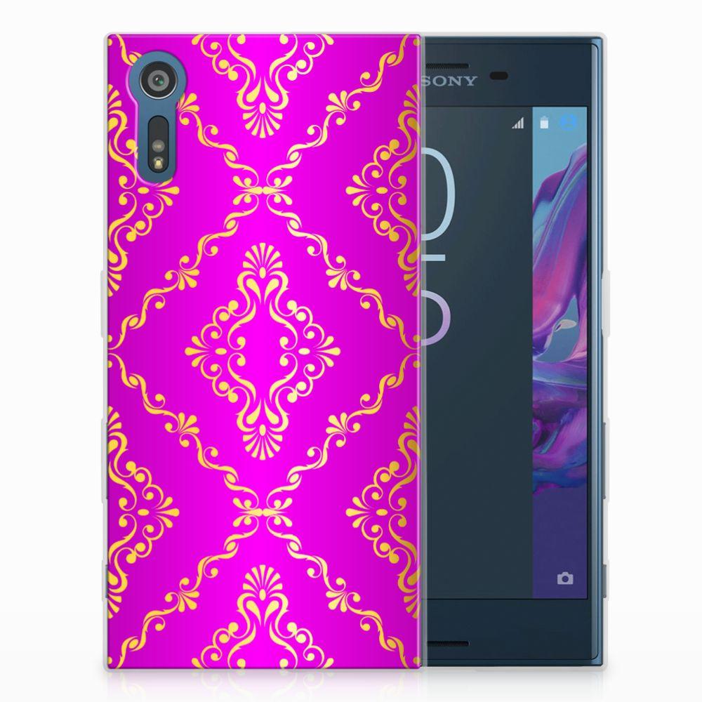 Sony Xperia XZs | XZ Uniek TPU Hoesje Barok Roze