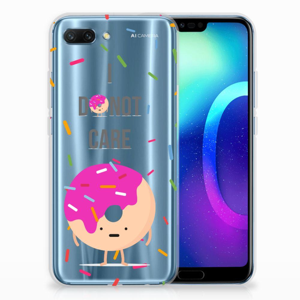 Huawei Honor 10 Siliconen Case Donut Roze