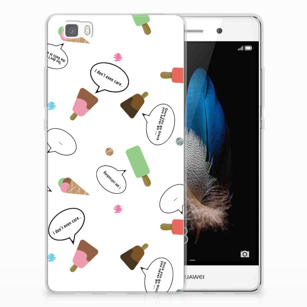 Huawei Ascend P8 Lite TPU Hoesje Design IJsjes
