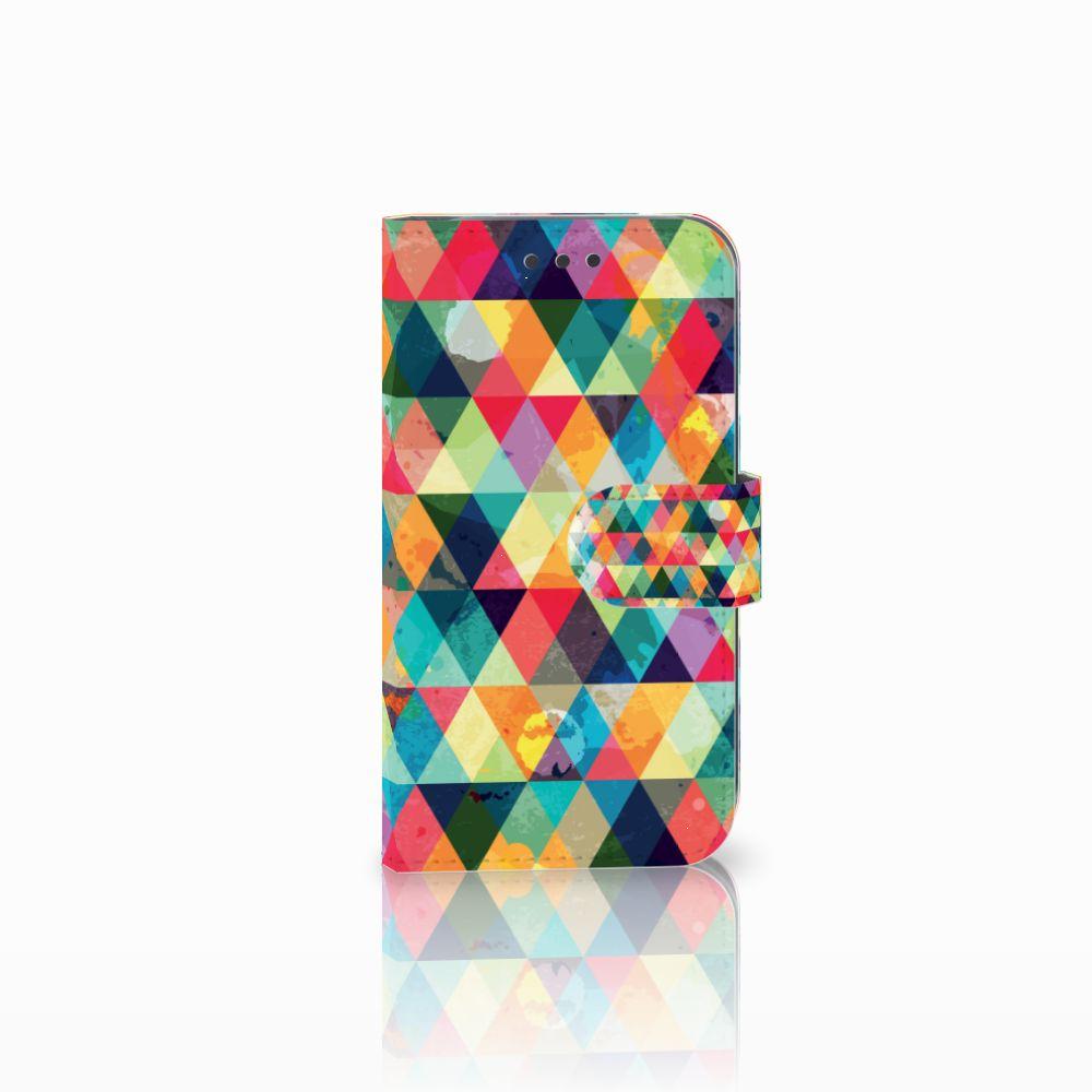 Samsung Galaxy S3 i9300 Uniek Boekhoesje Geruit