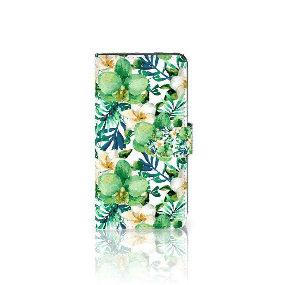 Samsung Galaxy J4 2018 Uniek Boekhoesje Orchidee Groen