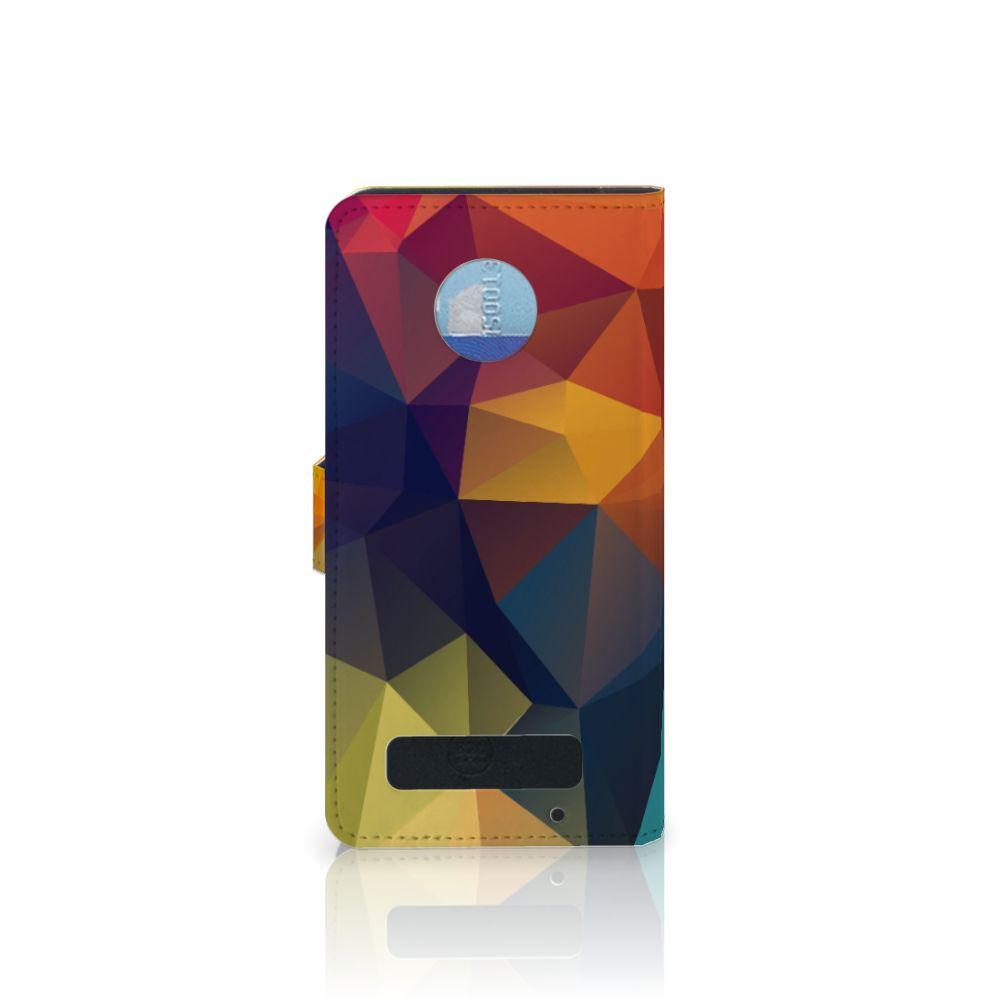 Motorola Moto Z Play Bookcase Polygon Color