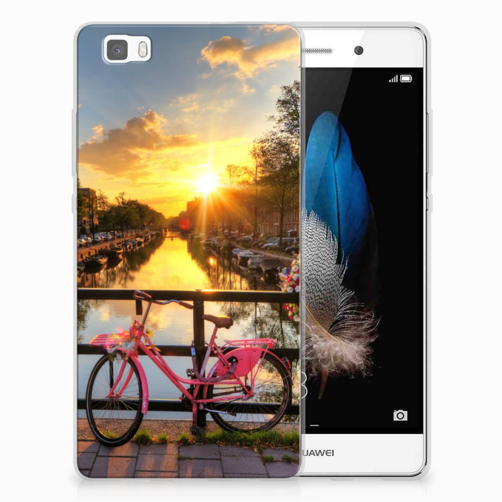 Huawei Ascend P8 Lite Siliconen Back Cover Amsterdamse Grachten