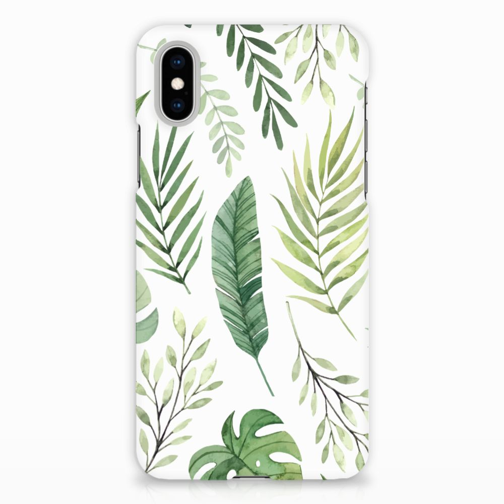 Apple iPhone X | Xs Uniek Hardcase Hoesje Leaves