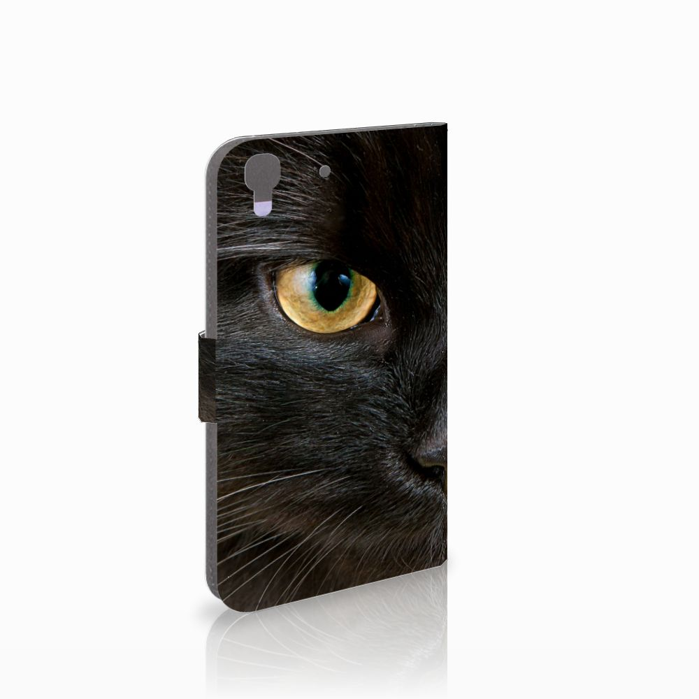 Honor 4A   Y6 Uniek Boekhoesje Zwarte Kat