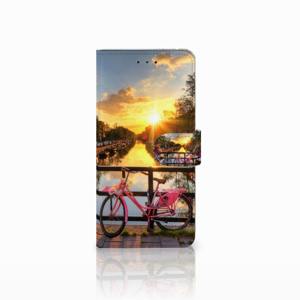 Motorola Moto E5 Plus Uniek Boekhoesje Amsterdamse Grachten
