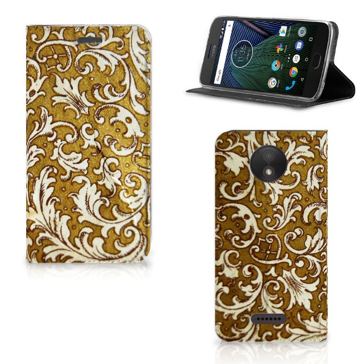 Telefoon Hoesje Motorola Moto C Plus Barok Goud
