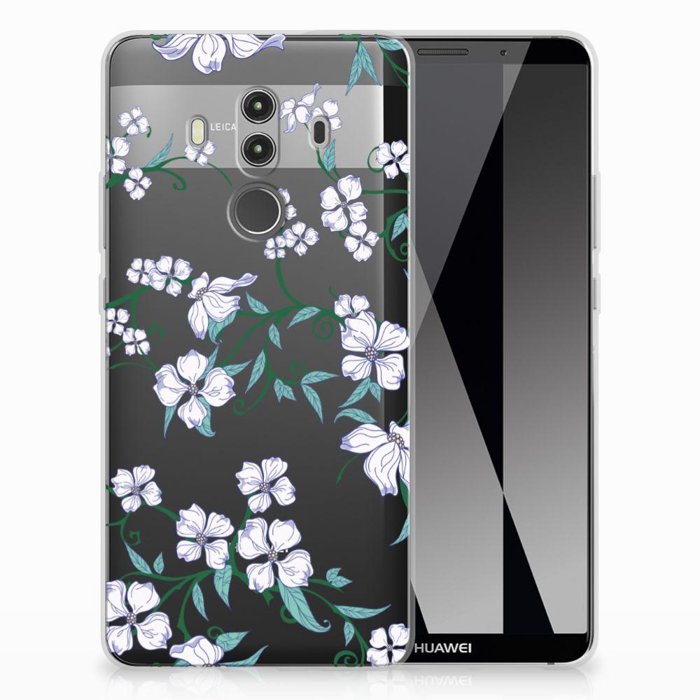 Huawei Mate 10 Pro Uniek TPU Case Blossom White