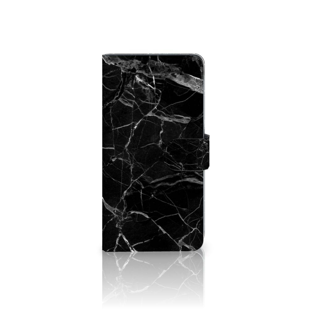 Samsung Galaxy A8 Plus (2018) Boekhoesje Marmer Zwart