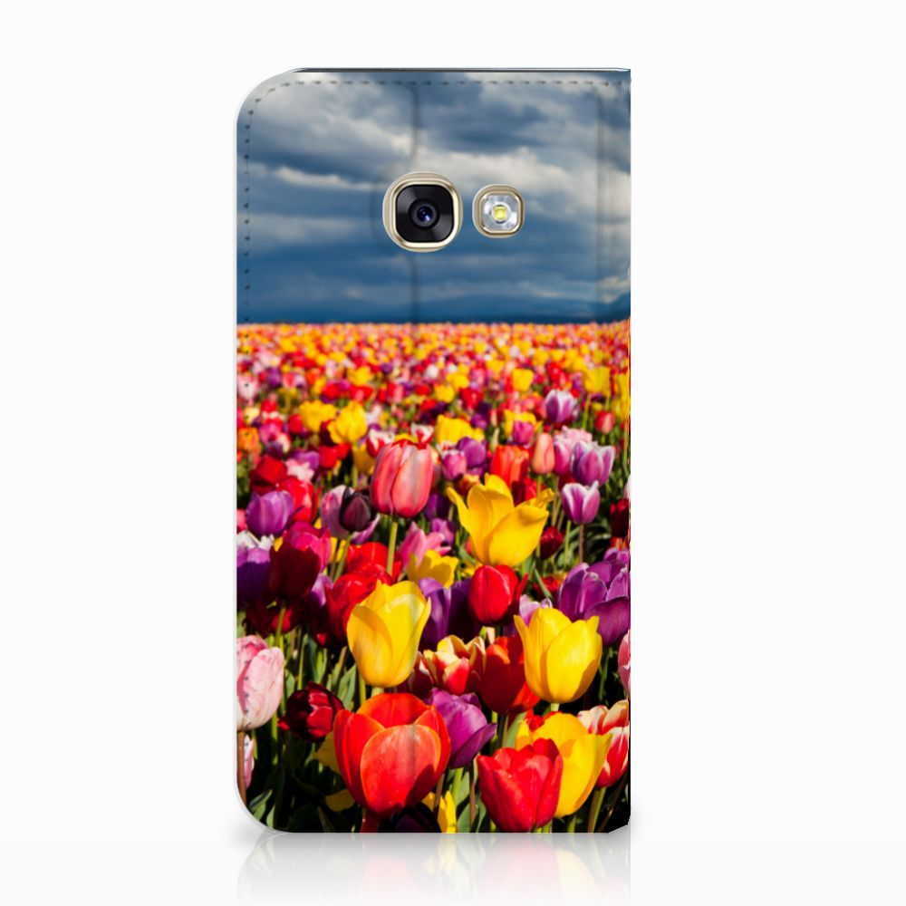 Samsung Galaxy A3 2017 Uniek Standcase Hoesje Tulpen