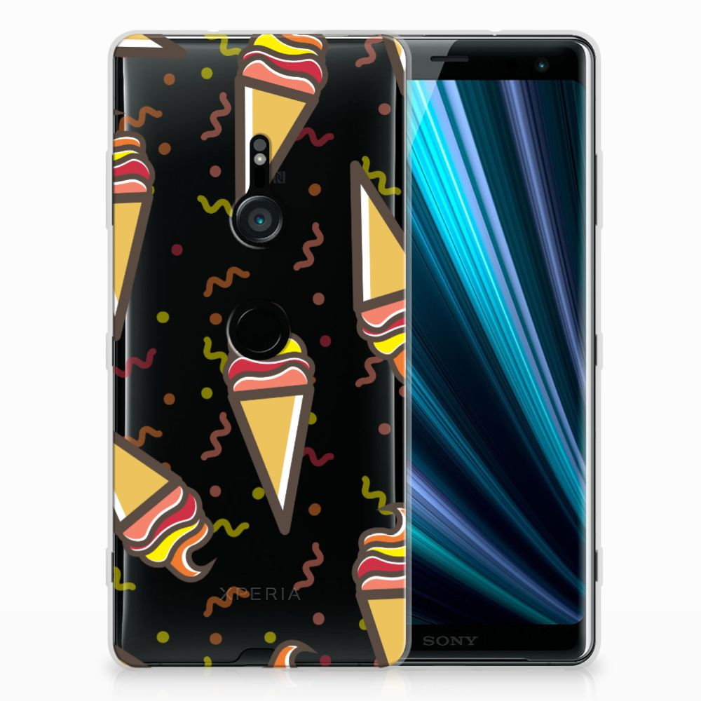 Sony Xperia XZ3 Siliconen Case Icecream