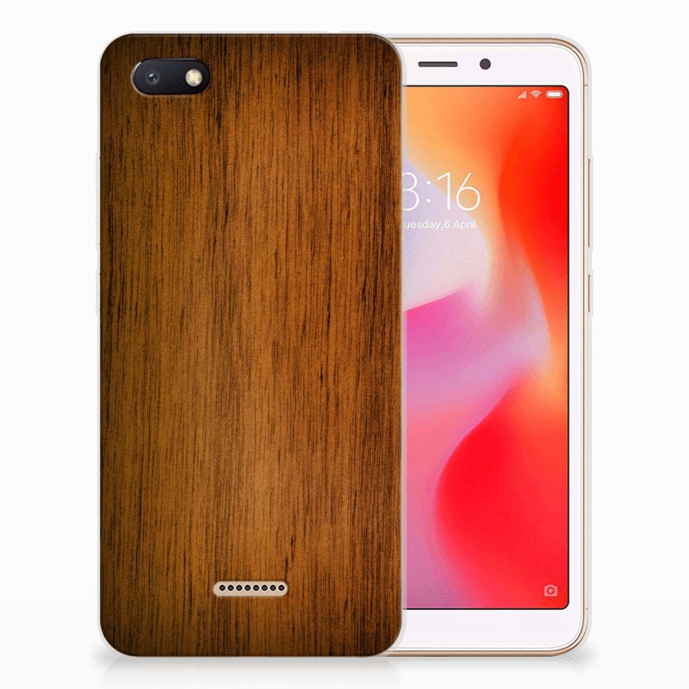 Xiaomi Redmi 6A Bumper Hoesje Donker Hout