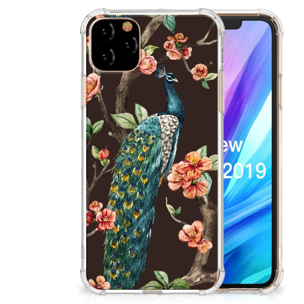 Apple iPhone 11 Pro Max Case Anti-shock Pauw met Bloemen