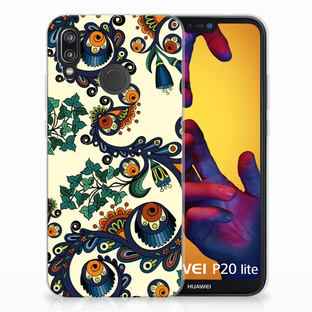 Siliconen Hoesje Huawei P20 Lite Barok Flower