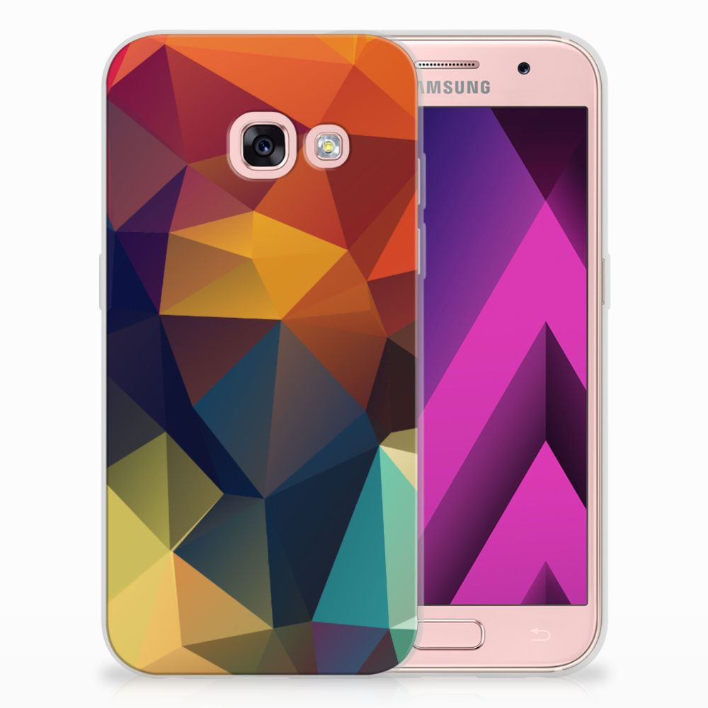 Samsung Galaxy A3 2017 TPU Hoesje Polygon Color