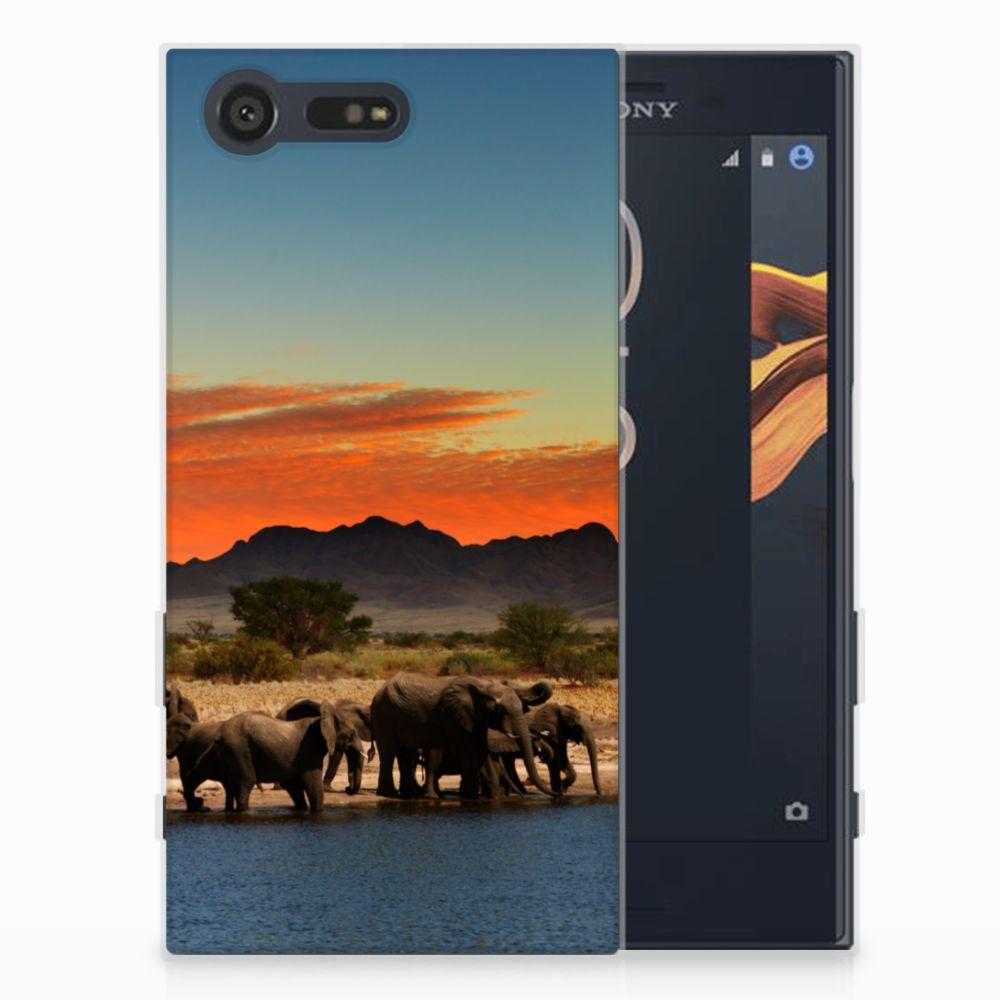 Sony Xperia X Compact TPU Hoesje Design Olifanten