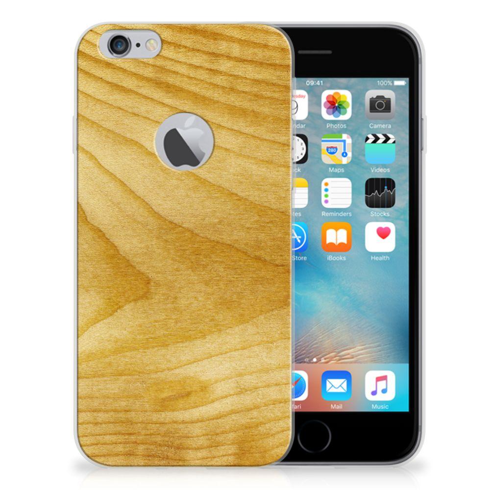 Apple iPhone 6 Plus   6s Plus Bumper Hoesje Licht Hout