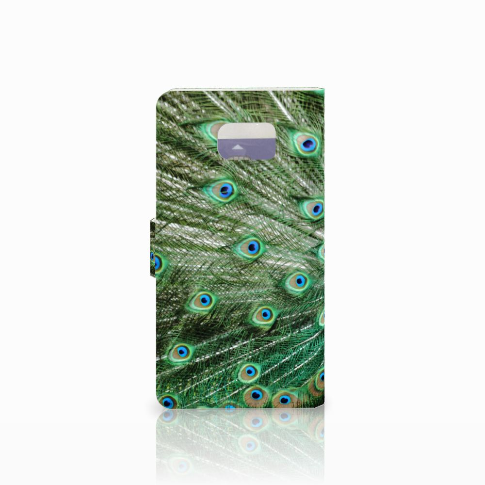 Samsung Galaxy Note 5 Telefoonhoesje met Pasjes Pauw