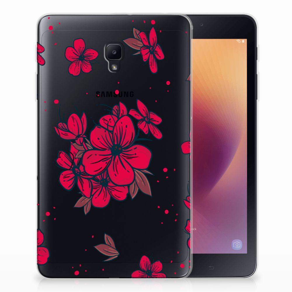 Samsung Galaxy Tab A 8.0 (2017) Tablethoesje Design Blossom Red