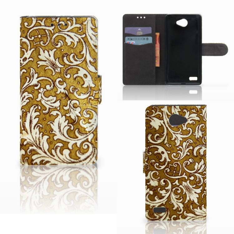 Wallet Case LG Bello 2 Barok Goud