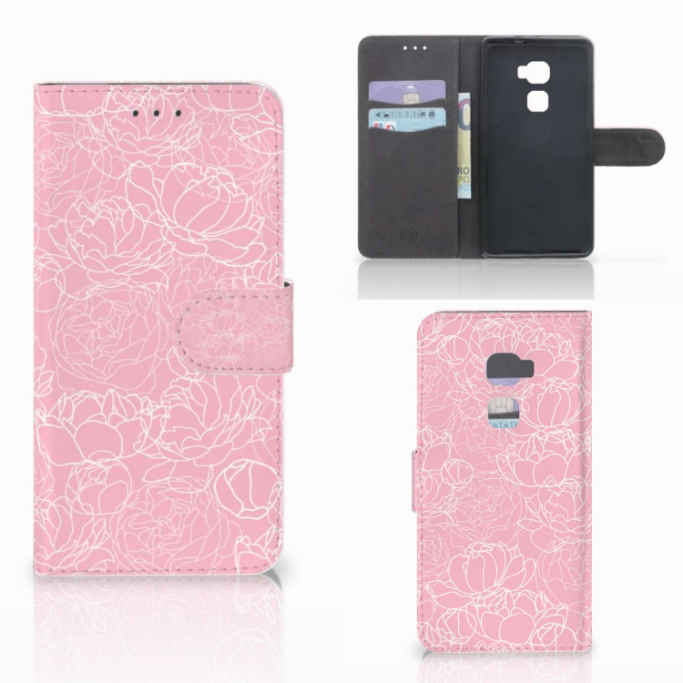 Huawei Mate S Wallet Case White Flowers