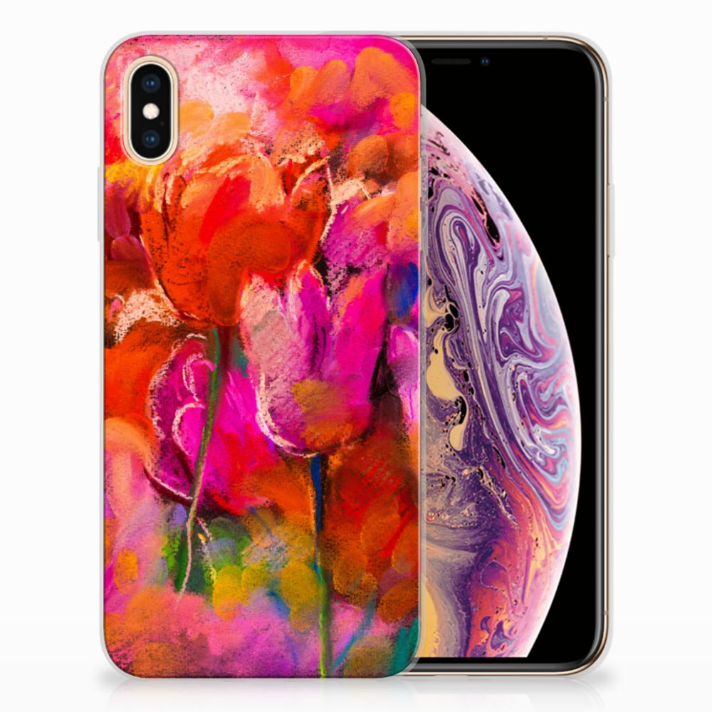 Apple iPhone Xs Max TPU Hoesje Design Tulips