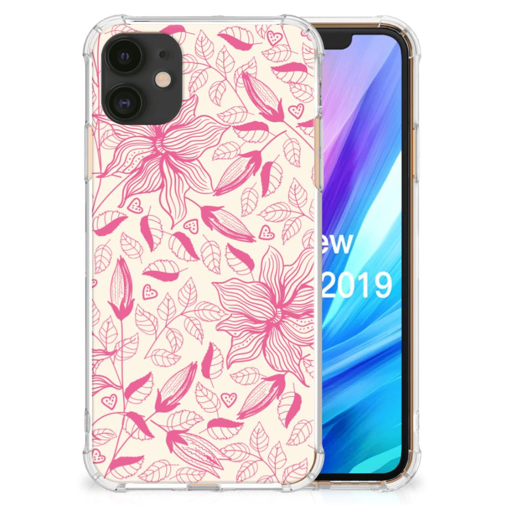 Apple iPhone 11 Case Pink Flowers