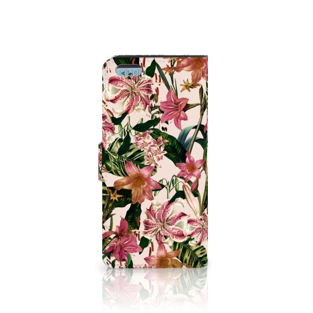 Apple iPhone 6 Plus   6s Plus Hoesje Flowers