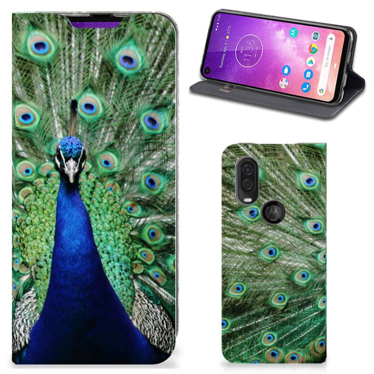 Motorola One Vision Hoesje maken Pauw