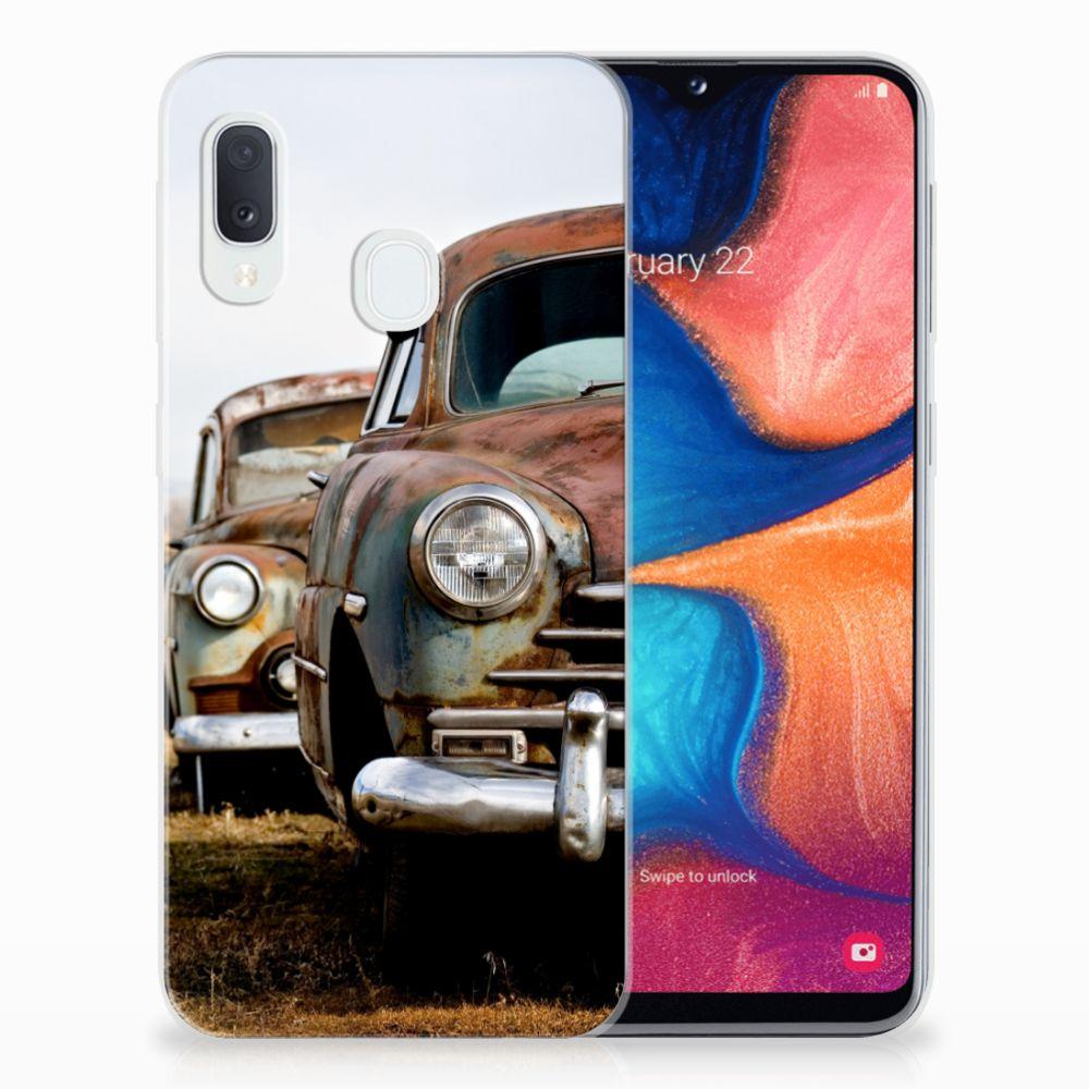Samsung Galaxy A20e Siliconen Hoesje met foto Vintage Auto